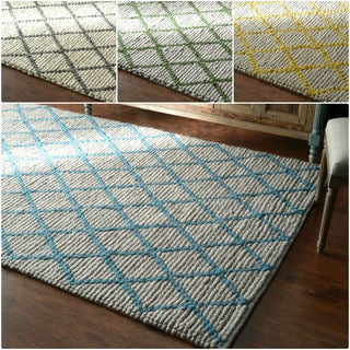 nuLOOM Hand-Looped Moroccan Trellis New Zealand Wool Fancy Rug (8' x 10')