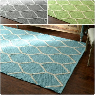 nuLOOM Hand-Looped Lattice Wool Fancy Rug (8' x 10')