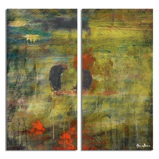 Alexis Bueno 'Bueno Exchange LIII' Canvas Diptych Art Print