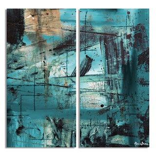 Alexis Bueno 'Bueno Exchange LXXI' Canvas Diptych Art Print