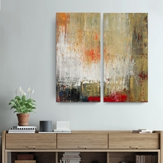 Alexis Bueno 'Bueno Exchange LXXII' Canvas Diptych Art Print