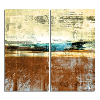 Alexis Bueno 'Bueno Exchange XXIV' Canvas Diptych Art Print