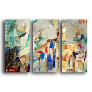 Alexis Bueno 'Bueno Exchange XXV' Canvas Triptych Art Print