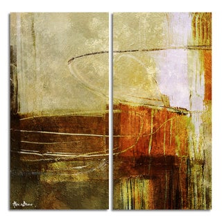 Alexis Bueno 'Bueno Exchange XXXIX' Canvas Diptych Art Print