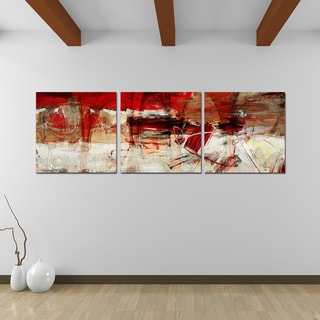 Alexis Bueno 'Bueno Exchange XL' Canvas Triptych Art Print