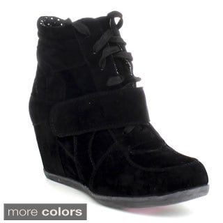 Blossom 'Thunder-18' Women's High Top Hidden Wedge Booties