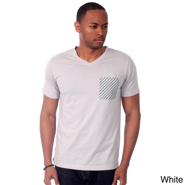 Something Strong Men's Contrast Pocket Solid V-neck Tee