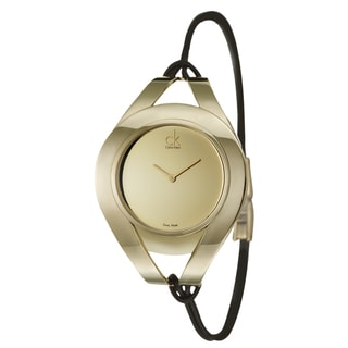 Calvin Klein Women's 'Sophistication' Yellow Goldplated Stainless Steel Swiss Quartz Watch