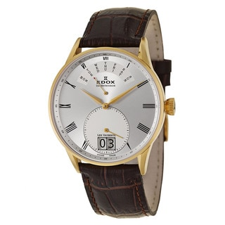 Edox Men's 'Les Vauberts Day Retrograde' Yellow Gold PVD Coated Stainless Steel Retrograde Watch