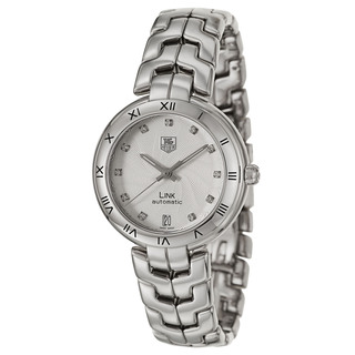 Tag Heuer Women's 'Link Automatic' Stainless Steel Diamond Swiss Mechanical Automatic Watch
