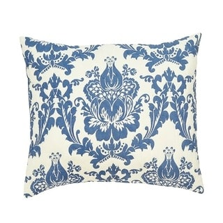 Dalilah Blue Cotton Euro Sham