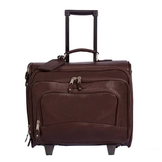 Canyon Outback 16-inch Leather Rolling Laptop Briefcase