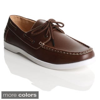 James Marten London Men's Two-eyelet Lace-up Boat Shoes