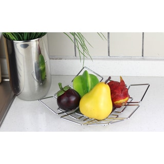 Chrome Plated Metal Wire Fruit Plate