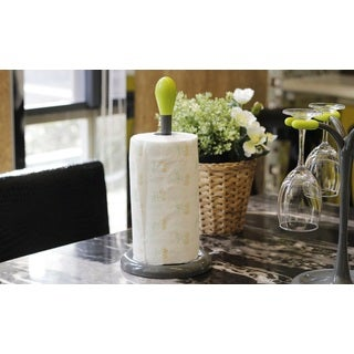 Green and Dark Grey Plastic Paper Towel Holder