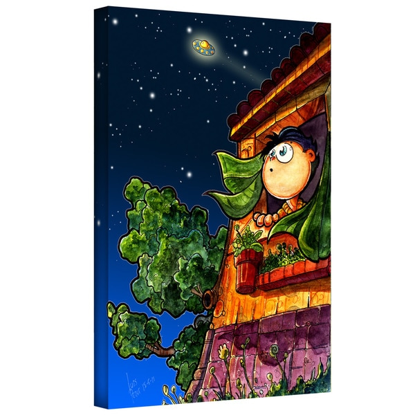 Luis Peres 'UFO Kid 1' Gallery-wrapped Canvas
