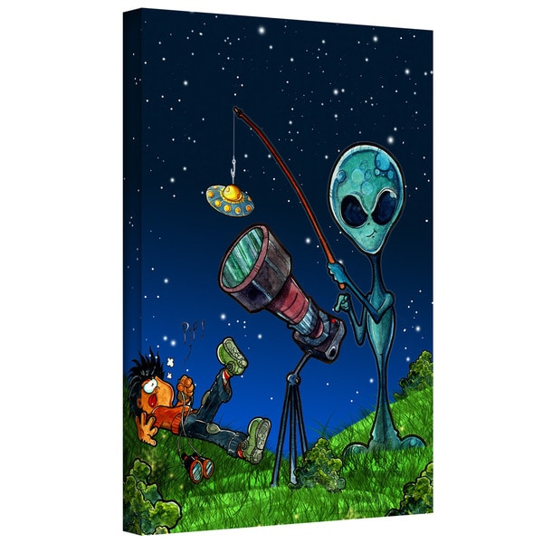 Luis Peres 'UFO Kid 3' Gallery-wrapped Canvas