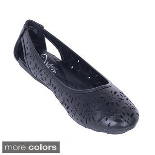Women's Perforated Open-heel Flats