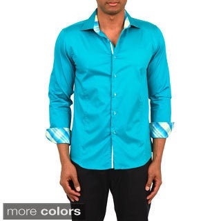 Men's Slim Fit Long Sleeve Button-front Shirt