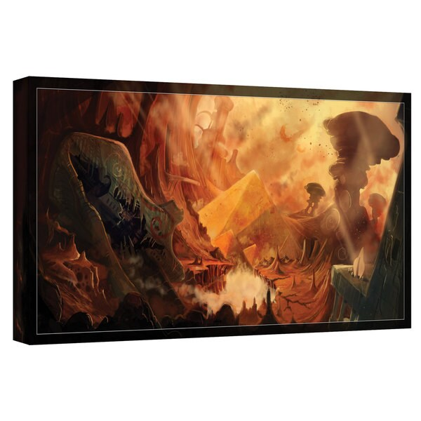 Luis Peres 'Monuments of Mars' Gallery-wrapped Canvas