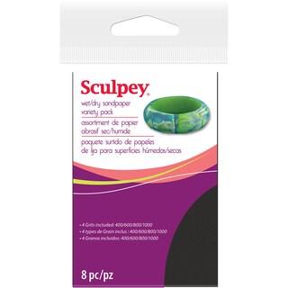 Sculpey Wet/Dry Sandpaper Variety Pack 8pc-2.75inX4.5in