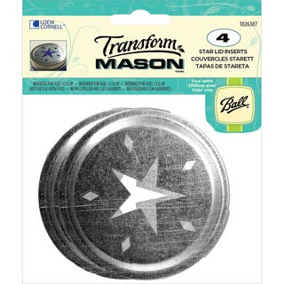 Transform Mason Ball Lid Inserts 4/Pkg-Star