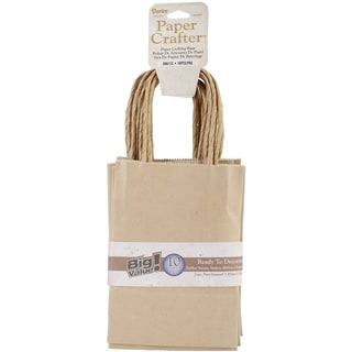Value Pack Paper Bags 4.72inX6.70inX1.97in 10/Pkg-Kraft