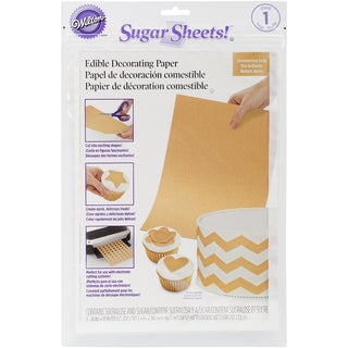 Sugar Sheet 8inX11in 1/Pkg-Gold Shimmer