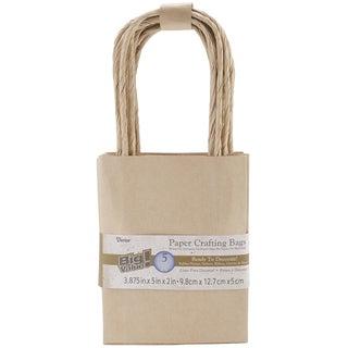 Paper Bags 2inX3.875inX5.125in 5/Pkg-Kraft