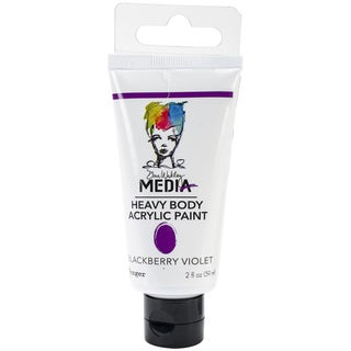Dina Wakley Media Heavy Body 2oz Acrylic Paints-Blackberry Violet