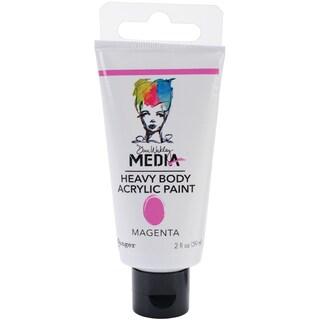 Dina Wakley Media Heavy Body 2oz Acrylic Paints-Magenta