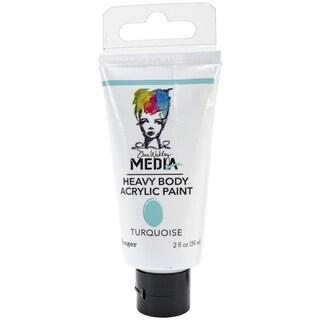 Dina Wakley Media Heavy Body 2oz Acrylic Paints-Turquoise