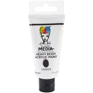 Dina Wakley Media Heavy Body 2oz Acrylic Paints-Umber