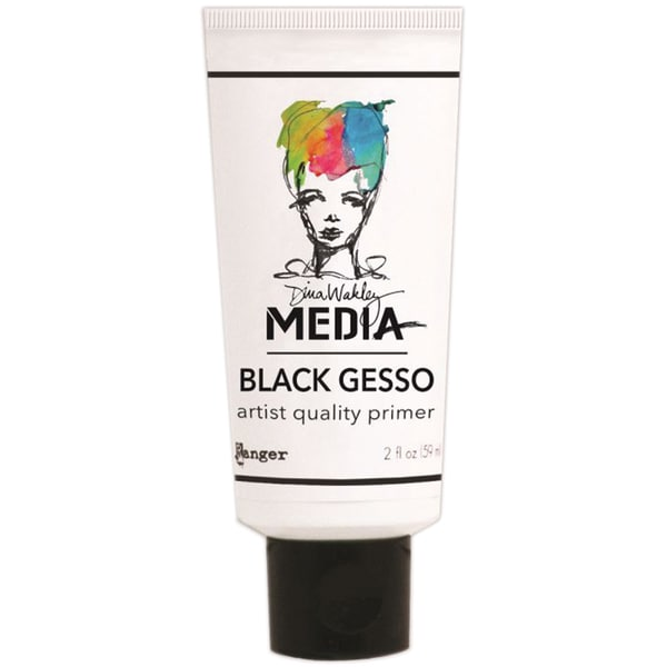 Dina Wakely Media Gesso 2oz Tube-Black