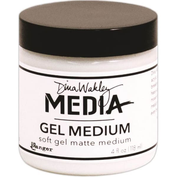 Dina Wakley Media Gel Medium 4oz Jar -Matte Finish