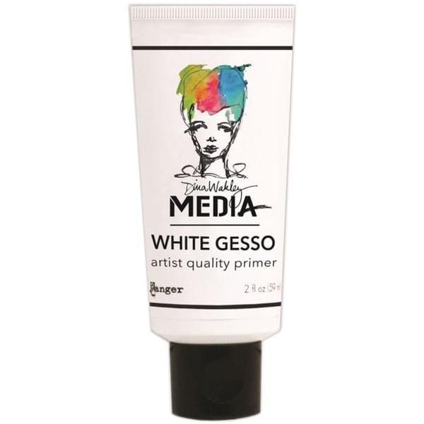 Dina Wakley Media Gesso 2oz Tube-White