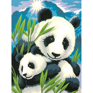 Paint By Number Kit 9inX12in-Panda And Cub