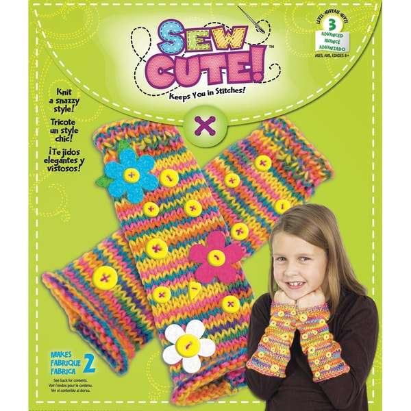 Sew Cute Knit Fingerless Gloves Kit