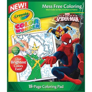 Crayola Color Wonder Coloring Pad-Spiderman