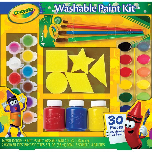 Crayola Washable Kid's Paint Kit-40pc