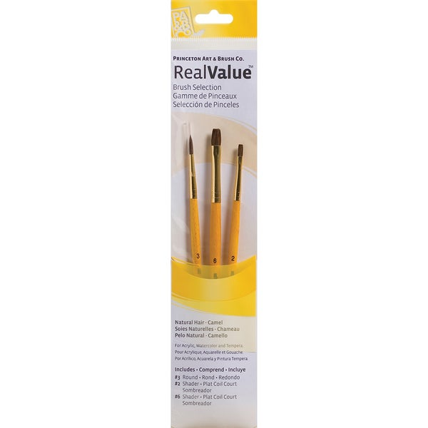 Real Value Brush Set Natural Camel-Round 3, Shader 2,6