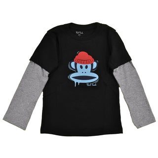 Paul Frank Boys 'Icy Julius' Black Long Sleeve Slider Top