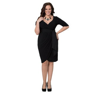 Kiyonna Women's Plus 'Harlow' Faux Wrap Dress