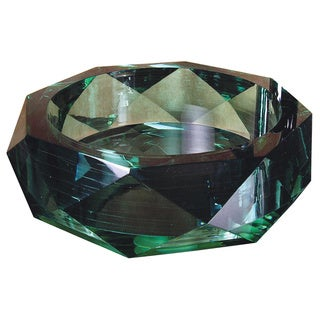 Yosemite Home Decor Jade Diamond Glass Basin