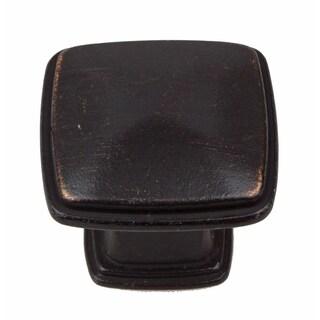 GlideRite 1.25-inch Oil Rubbed Bronze Square Deco Cabinet Knobs (Pack of 10)