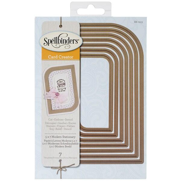 Spellbinders Nestabilities 5inX7in Card Creator Dies-Modern Stationary