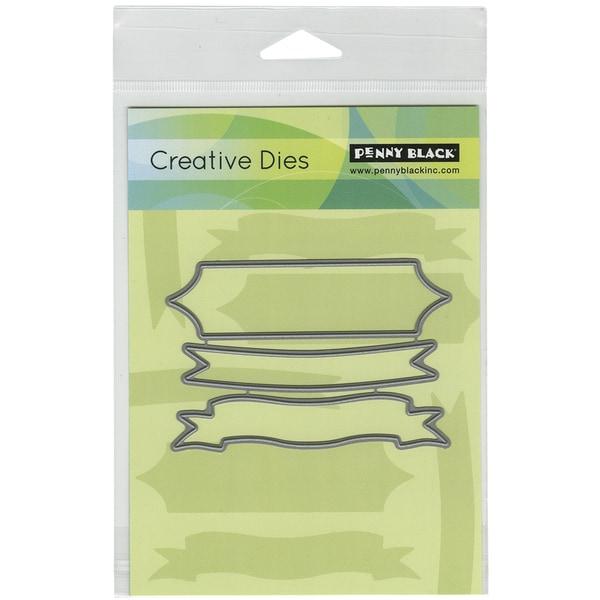 Penny Black Creative Dies-Triple Banner, 3.9inX2.6in