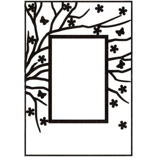 Nellie's Choice Spring In The Air Embossing Folder 4inX6in-Rectangle Frame W/Rectangle Opening