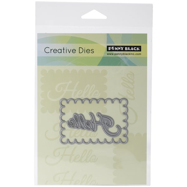 Penny Black Creative Dies-Hello Frame, 2.9inX2in
