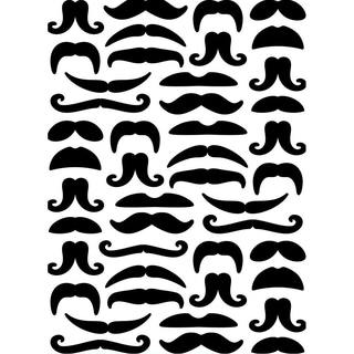 Embossing Folder 4.25inX5.75in-Mustaches